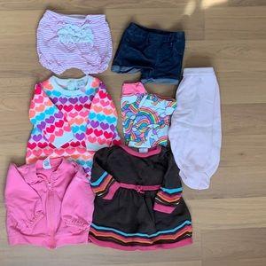 13 piece size 3-6 month Infant Girls Bundle